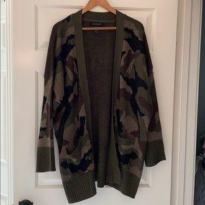 Ashley Stewart camo camouflage cardigan 18/20